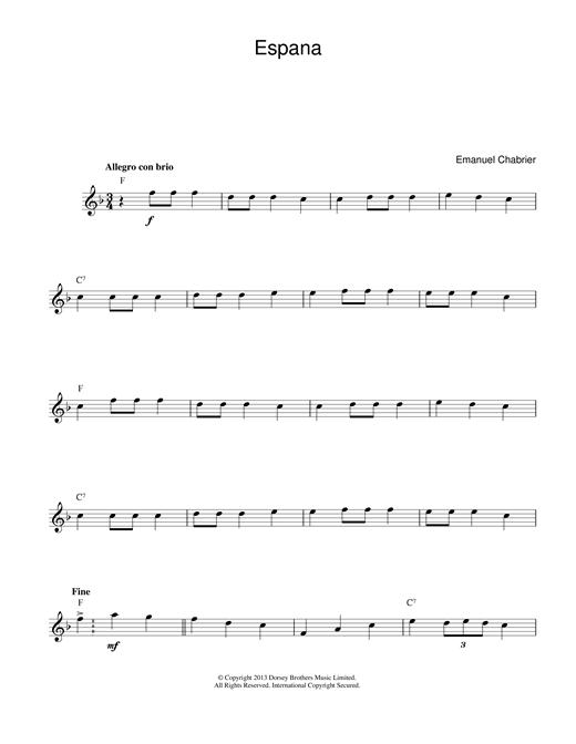 España sheet music