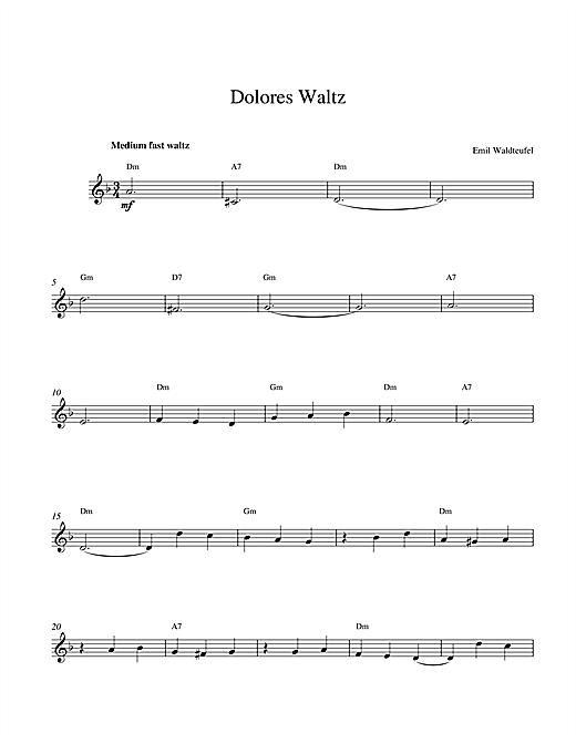 Dolores Waltz sheet music