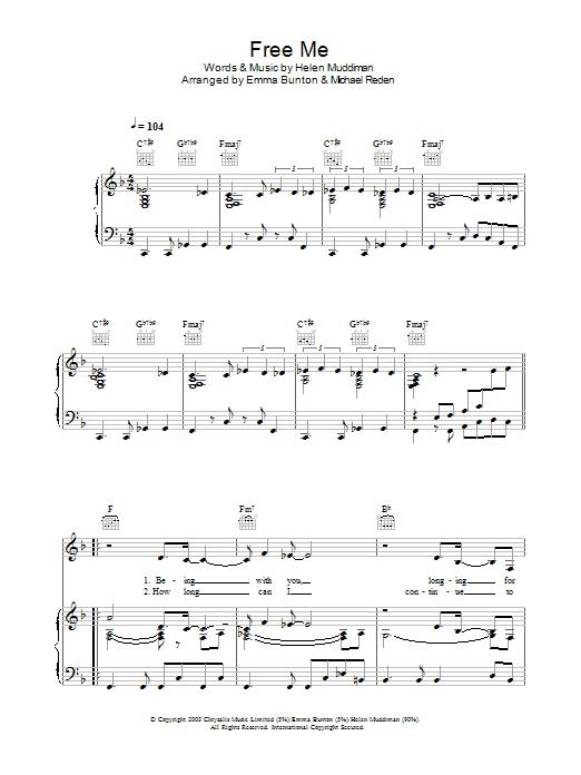 Free Me sheet music