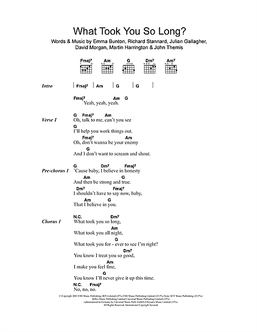 What Took You So Long? sheet music