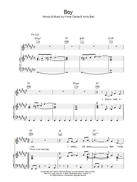 Boy sheet music