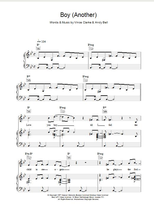 Boy (Another) sheet music
