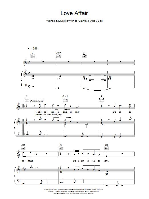 Love Affair sheet music