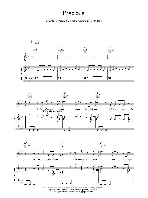 Precious sheet music