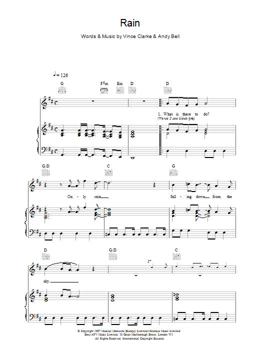 Rain sheet music