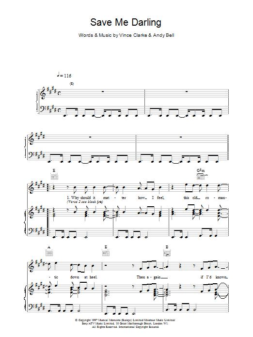 Save Me Darling sheet music