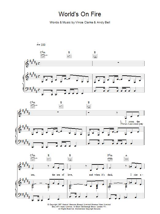 World's On Fire sheet music