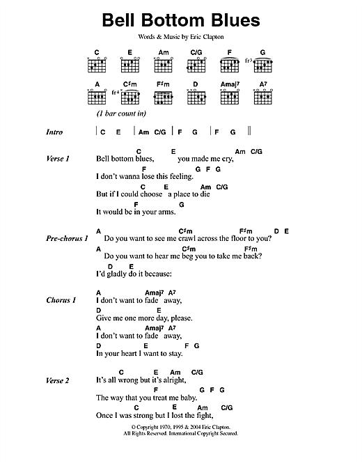 Bell Bottom Blues sheet music