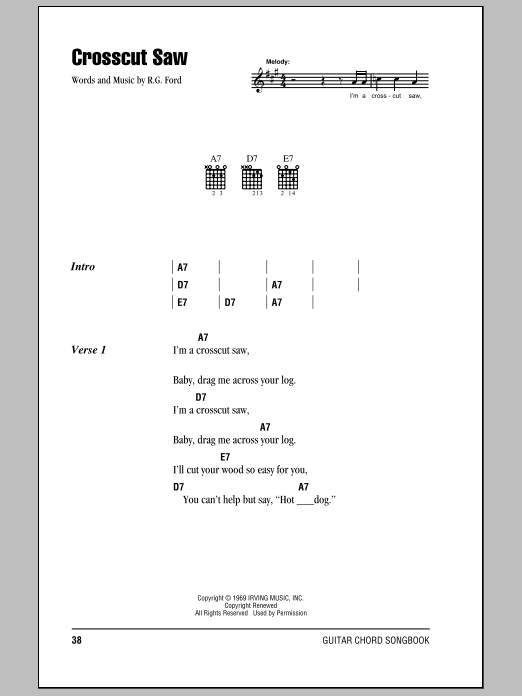 Crosscut Saw sheet music