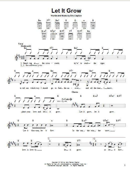 Let It Grow sheet music