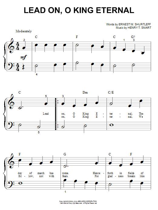 Lead On, O King Eternal sheet music