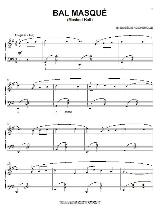 Bal Masque (Masked Ball) sheet music