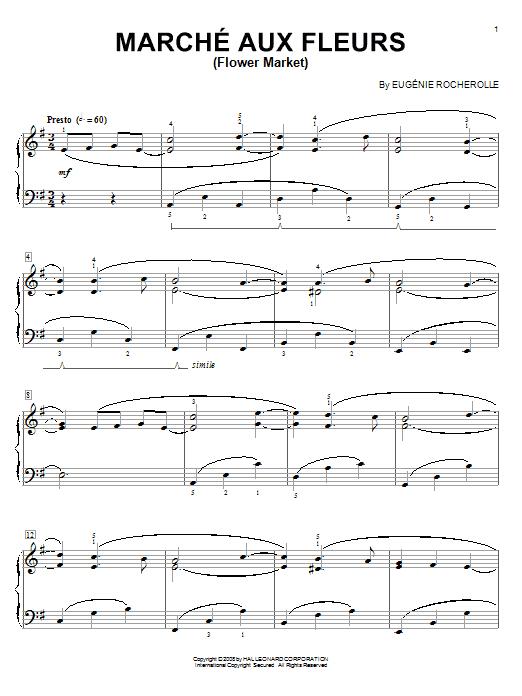 Marche Aux Fleurs (Flower Market) sheet music