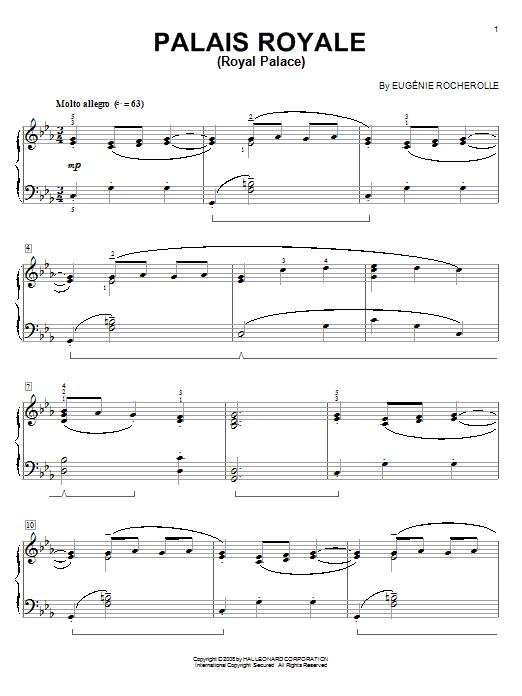 Palais Royale (Royal Palace) sheet music