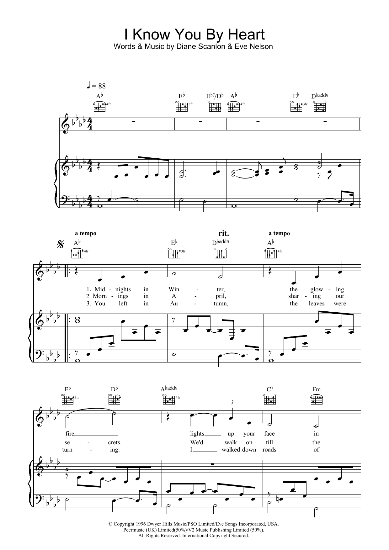 I Know You By Heart sheet music