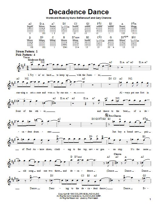 Decadence Dance sheet music