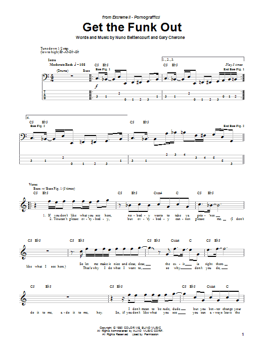 Get The Funk Out sheet music