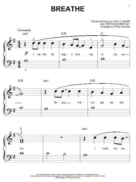Breathe sheet music