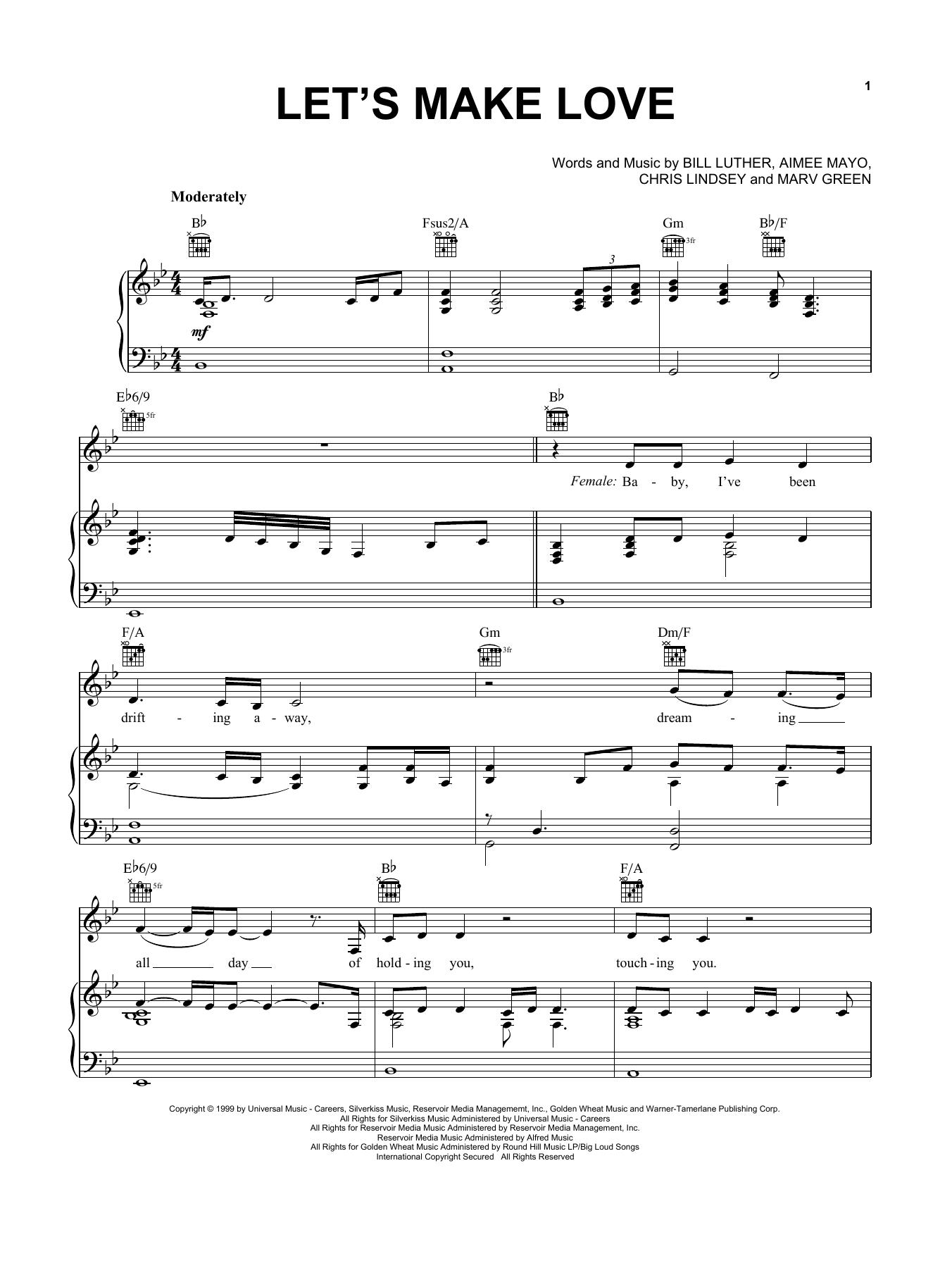 Let's Make Love sheet music