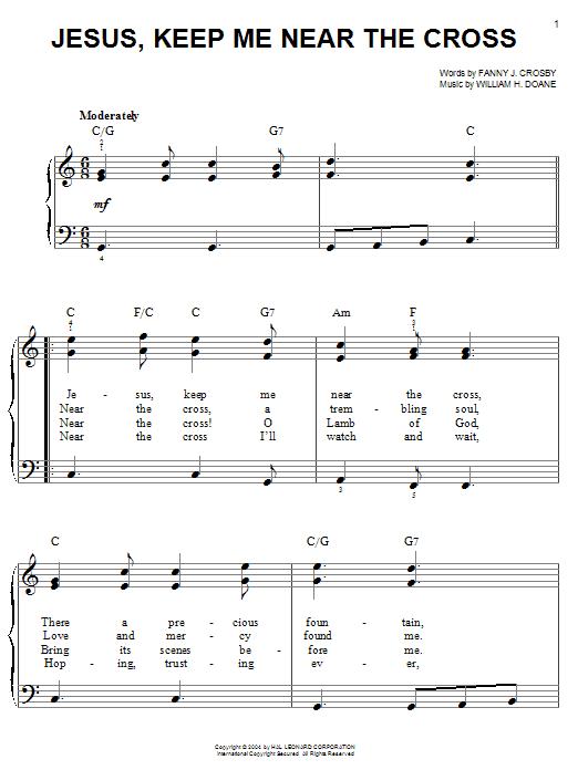 Jesus, Keep Me Near The Cross sheet music