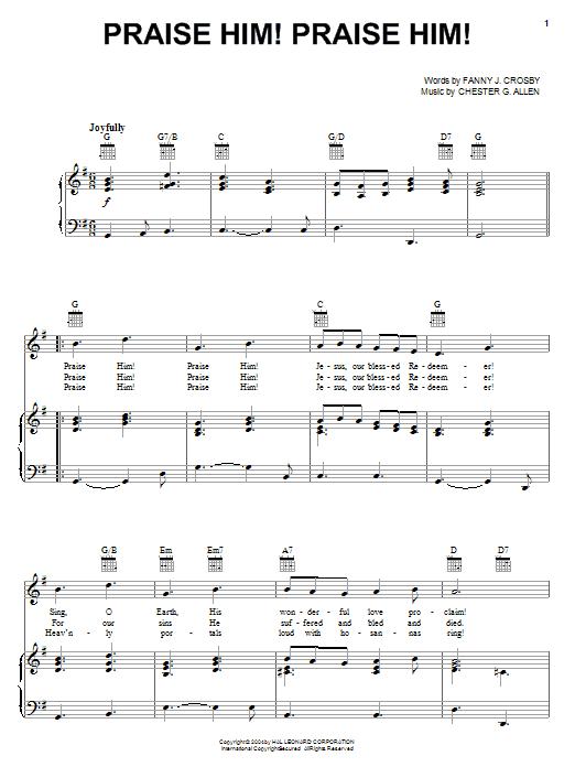 Praise Him! Praise Him! sheet music