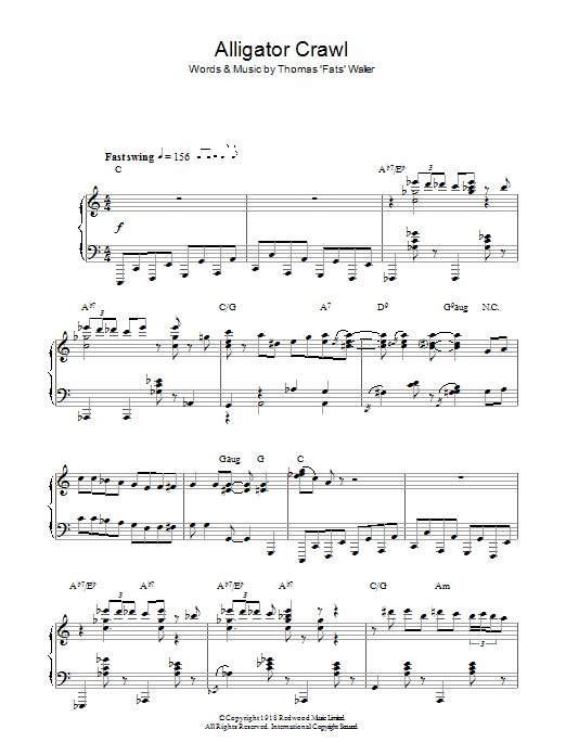 Alligator Crawl sheet music