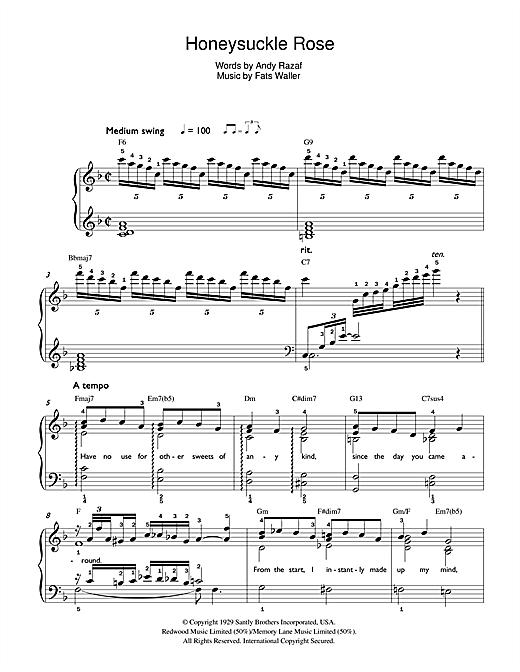 Honeysuckle Rose sheet music