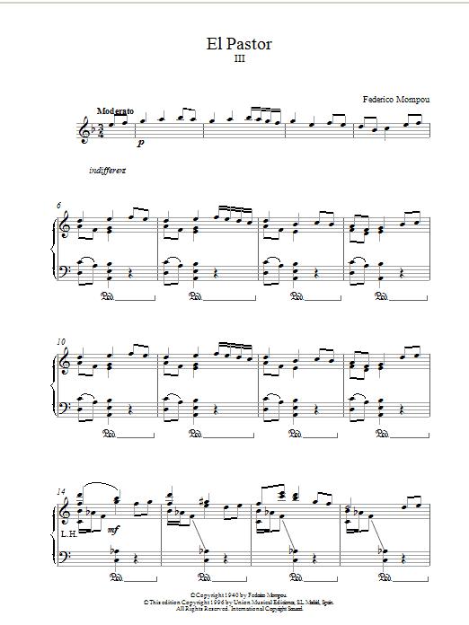 El Pastor III sheet music