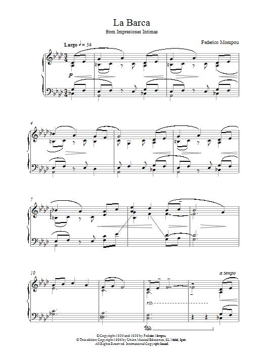 La Barca From Impresiones Intimas sheet music