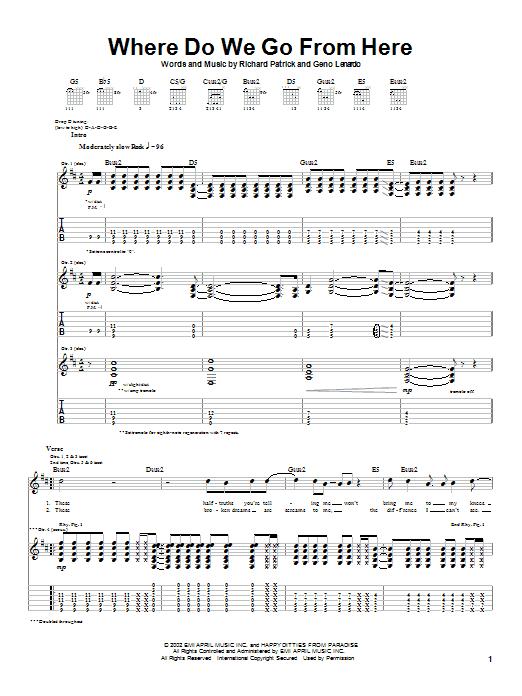 Where Do We Go From Here sheet music
