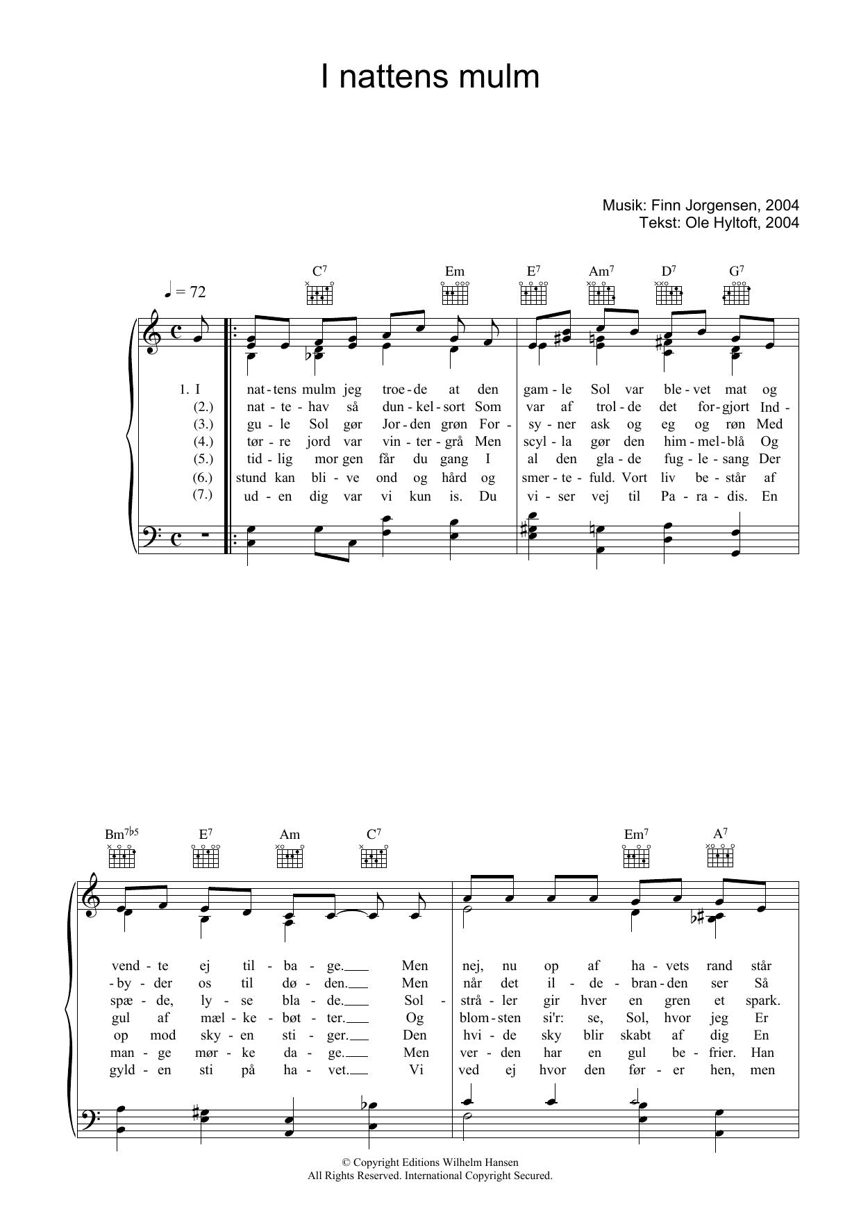 I Nattens Mulm sheet music