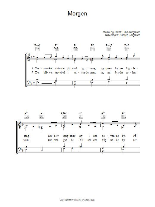 Morgen sheet music