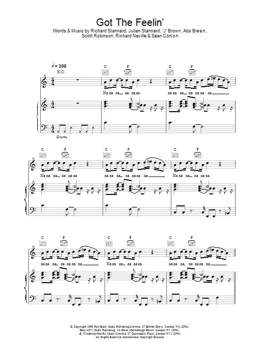 Got The Feelin sheet music