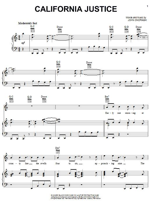 California Justice sheet music