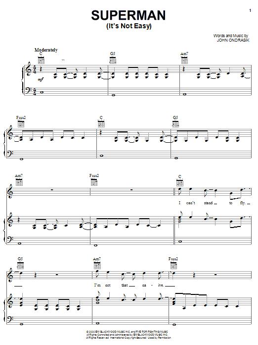 Superman (It's Not Easy) sheet music