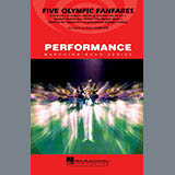 Download Paul Lavender Five Olympic Fanfares - Quad Toms sheet music and printable PDF music notes