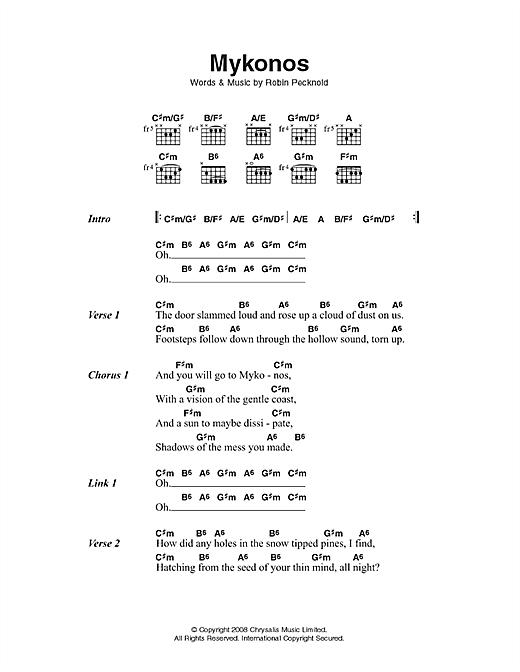 Mykonos sheet music