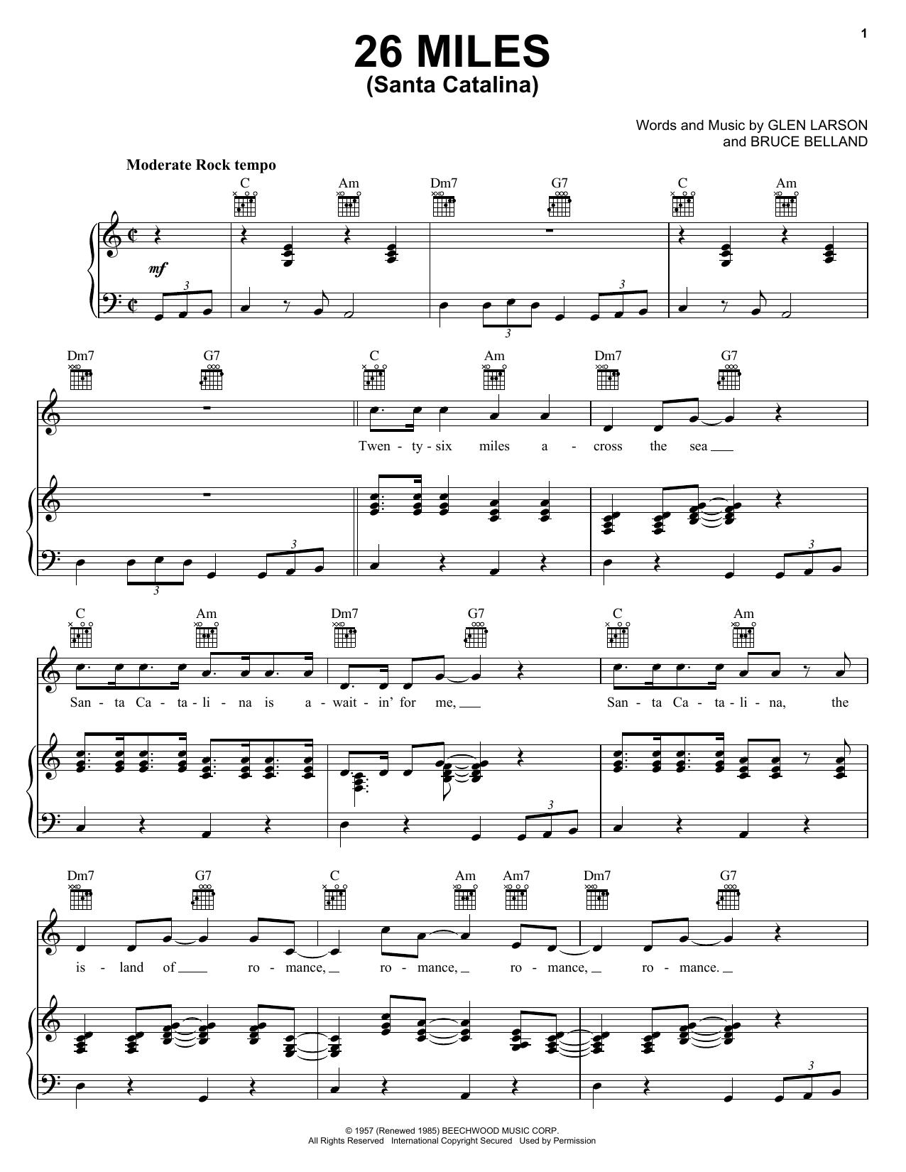 26 Miles (Santa Catalina) sheet music