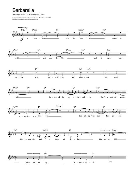 Barbarella sheet music
