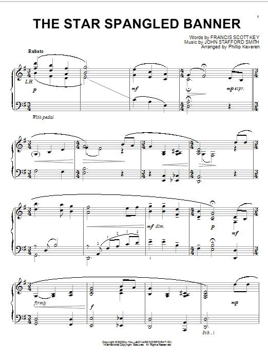 The Star Spangled Banner (arr. Phillip Keveren) sheet music