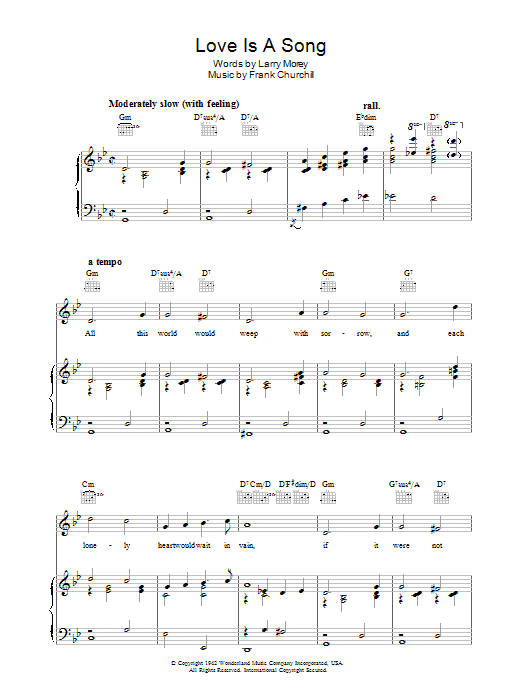 Love Is A Song (from Bambi) sheet music