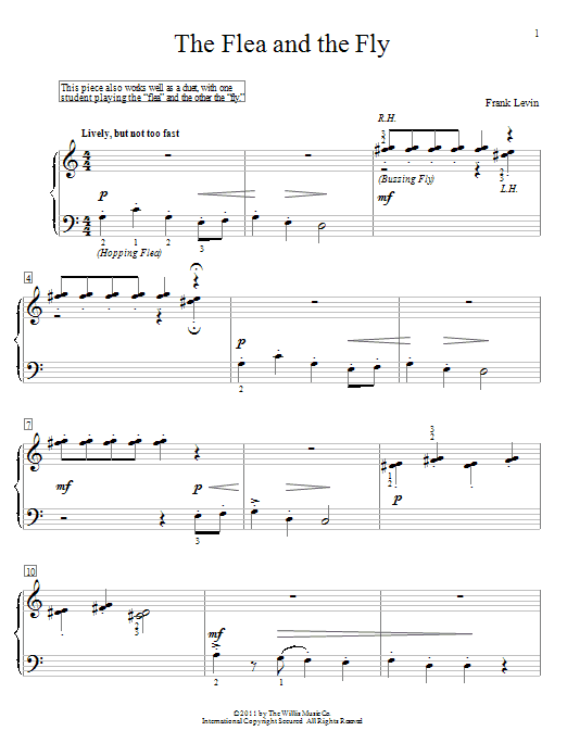 The Flea And The Fly sheet music