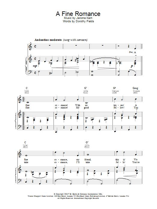 A Fine Romance sheet music
