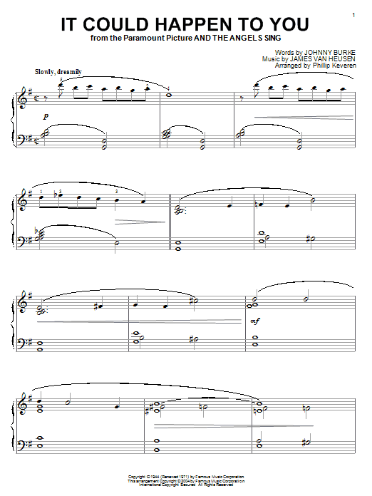 It Could Happen To You sheet music