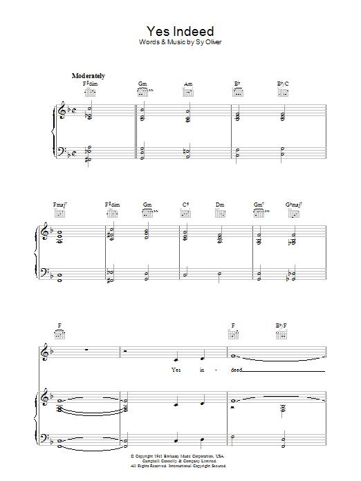 Yes Indeed (A Jive Spiritual) sheet music