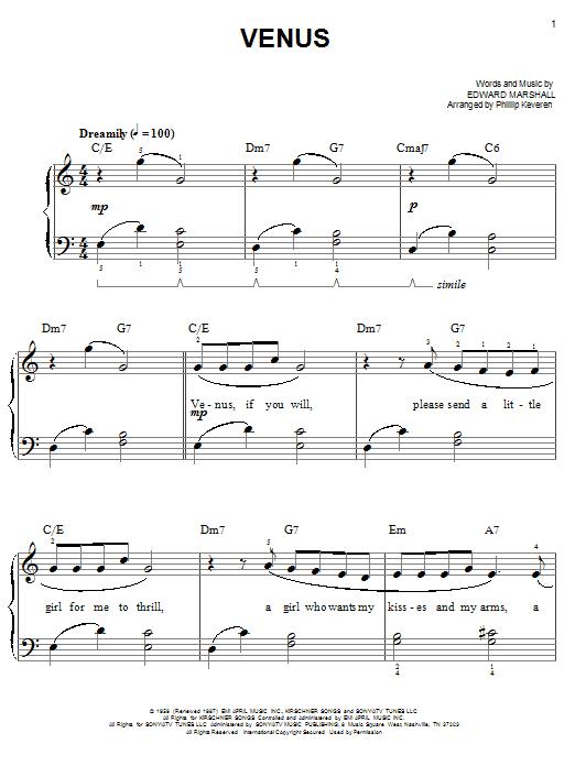 Venus (arr. Phillip Keveren) sheet music