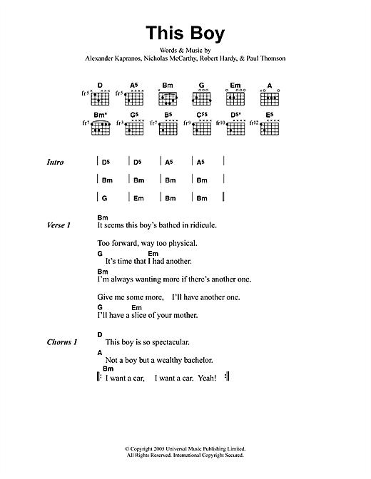 This Boy sheet music
