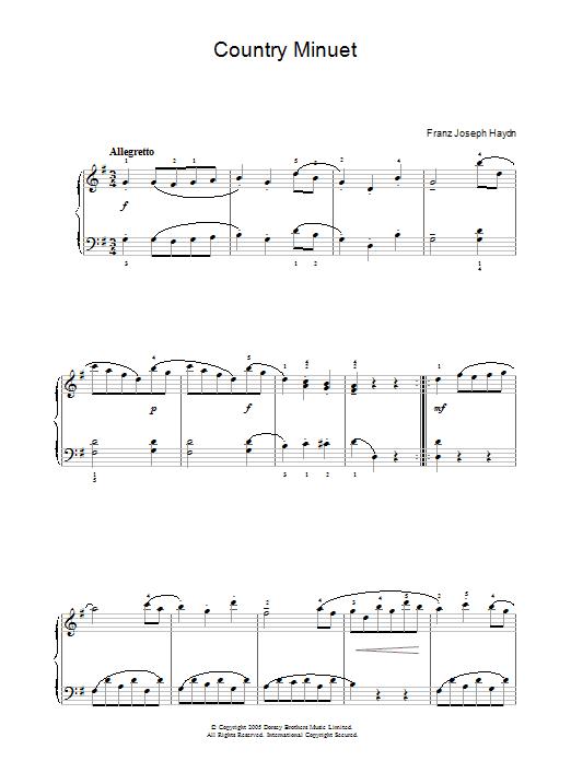 Country Minuet sheet music