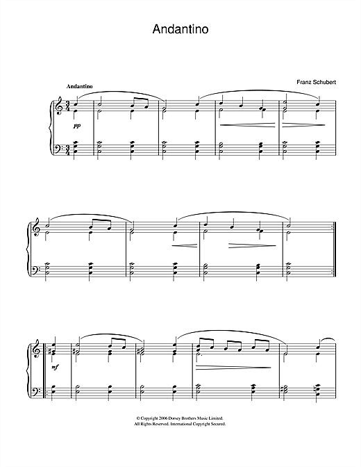 Andantino sheet music