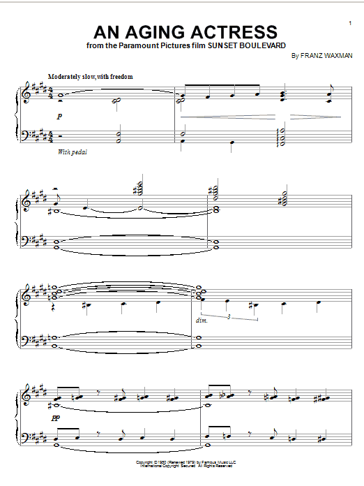 An Aging Actress sheet music